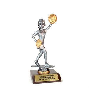 Cheerleading-Female-Trophy-Bobblehead-Team-Desktop-Series-Free-Lettering