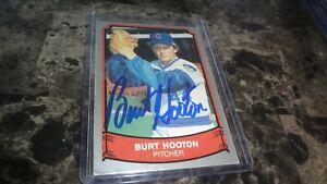 1989-PACIFIC-BURT-HOOTON-AUTOGRAPHED-BASEBALL-CARD