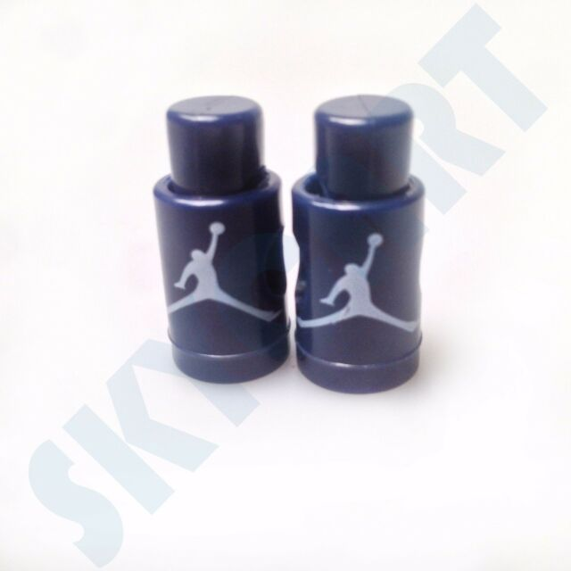 1 Pair New Jordan 6 Navy with White Jumpman Replacement lace locks olympic