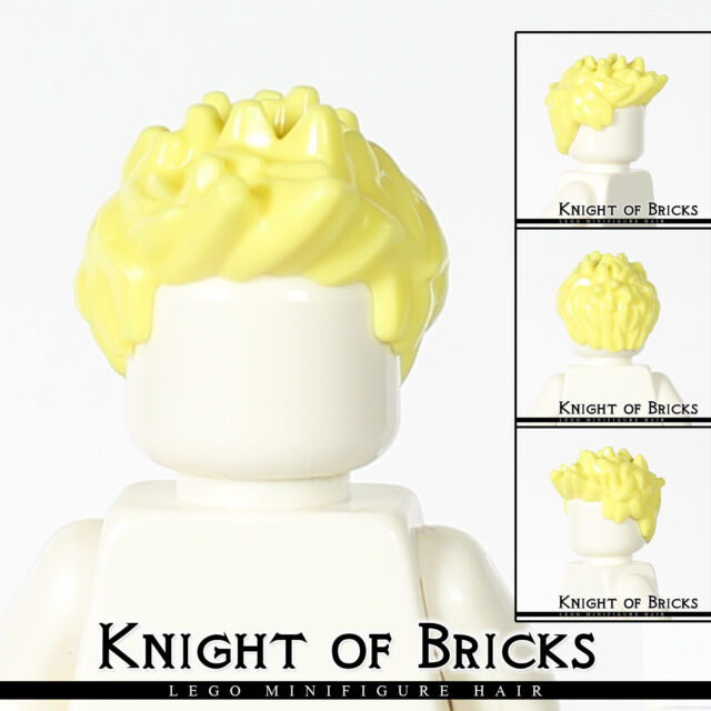 Lego Male Short Spiked Hair x 1 Cool Yellow for Minifigure