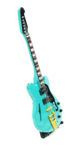 Miniatur Gitarre Dekogitarre E-Gitarre Dekoration 26x8x2cm Premium Quality Holz