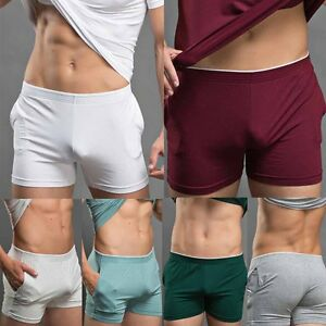 Men Thin Bulge Pouch Boxer Short Soft Cotton Underwear Brief ... 70d237b33f3