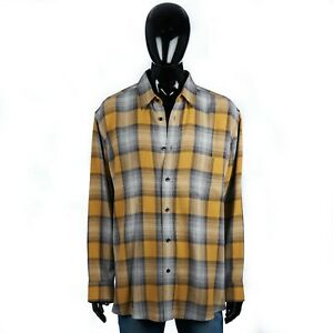 CELINE 890$ Loose Shirt In Checkered Yellow/Blue Stripes