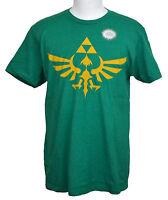 Legend Of Zelda T-shirt Nintendo Video Game Graphic Tee Kelly Green / Gray