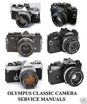 Olympus OM-1 OM1 OM2 OM 2 Cameras Service Repair Manuals Parts Lenses 35MM Lot