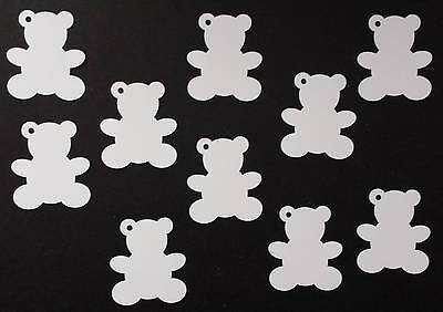 Teddy bear Gift Tags/labels made from plain white card x 10 with Hessian String