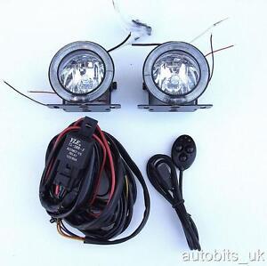 Universal-12v-Angel-Eye-LED-DRL-Niebla-Punto-Dia-Luces-Cableado-75MM-para
