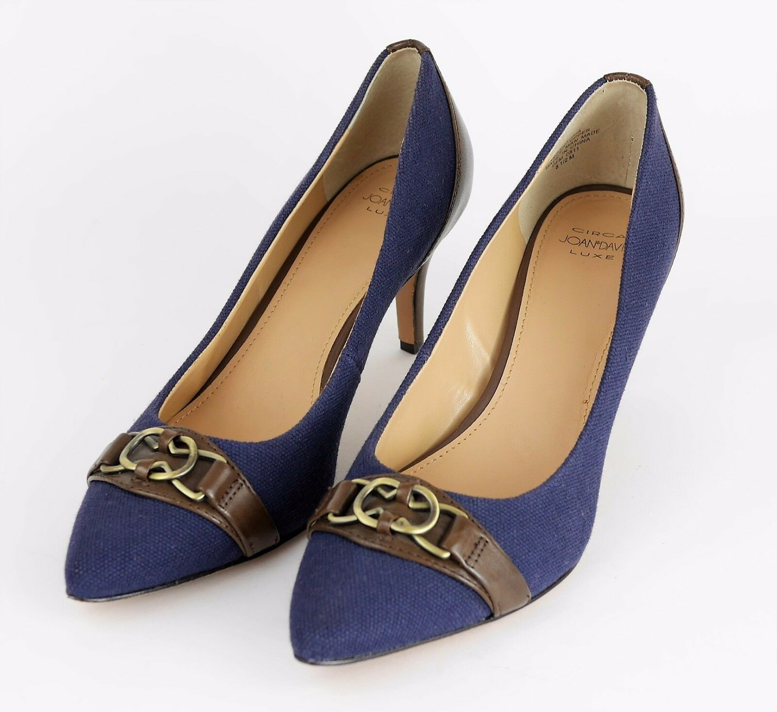 più economico CIRCA JOAN & DAVID LUXE LUXE LUXE Navy blu Canvas Closed Toe High Heel Pumps  donna 8.5  una marca di lusso