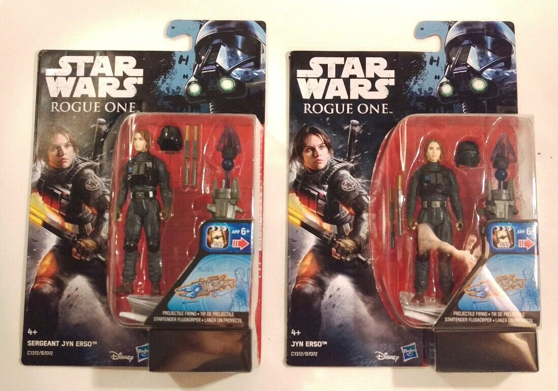 Star Wars 3.75 3.75 3.75  Rogue One Jyn Erso and Sgt Jyn Erso action figures Both variants efe534