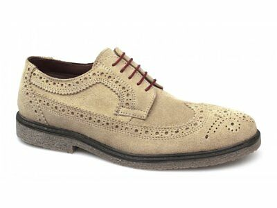 Red Tape ORRIN Mens Soft Suede Leather Lace-Up Classic Brogue Comfy Desert Shoes