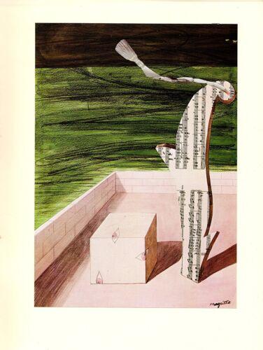 """SANS TITRE 1974 Vintage MAGRITTE /""""UNTITLED /"""" COLOR offset Lithograph"""