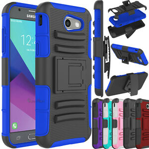 best service 05f69 0e277 For Samsung Galaxy J3 Emerge / J3 (2017) Case Protective Kickstand ...