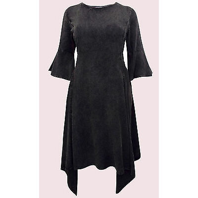 Eaonplus BLACK Butter Soft Hanky Hem Mythical Ways Dress Sizes UK 18 to 32 NEW