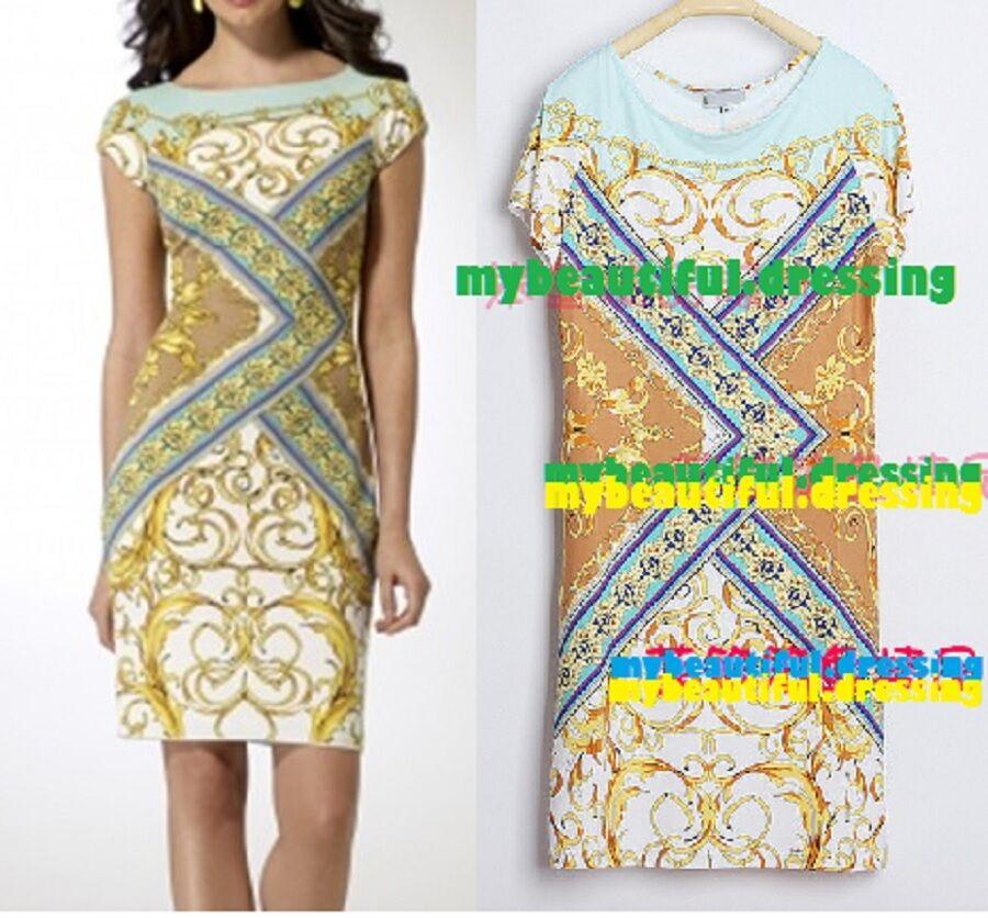 #442C DESIGNER MULTICOLOUR JERSEY SILK MAXI DRESS MW007250