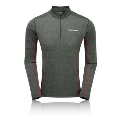 Grey Sports Outdoors Half Breathable Montane Mens Dart Zip Neck Top
