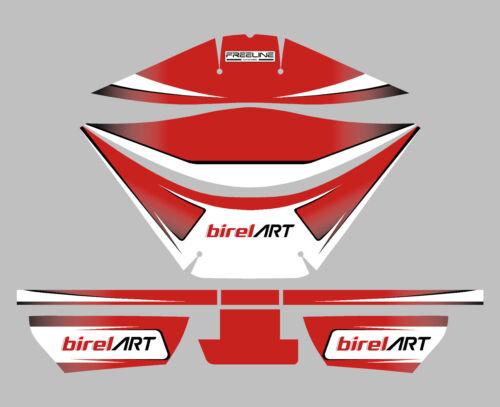 Birel art style rotax airbox autocollant kit-karting
