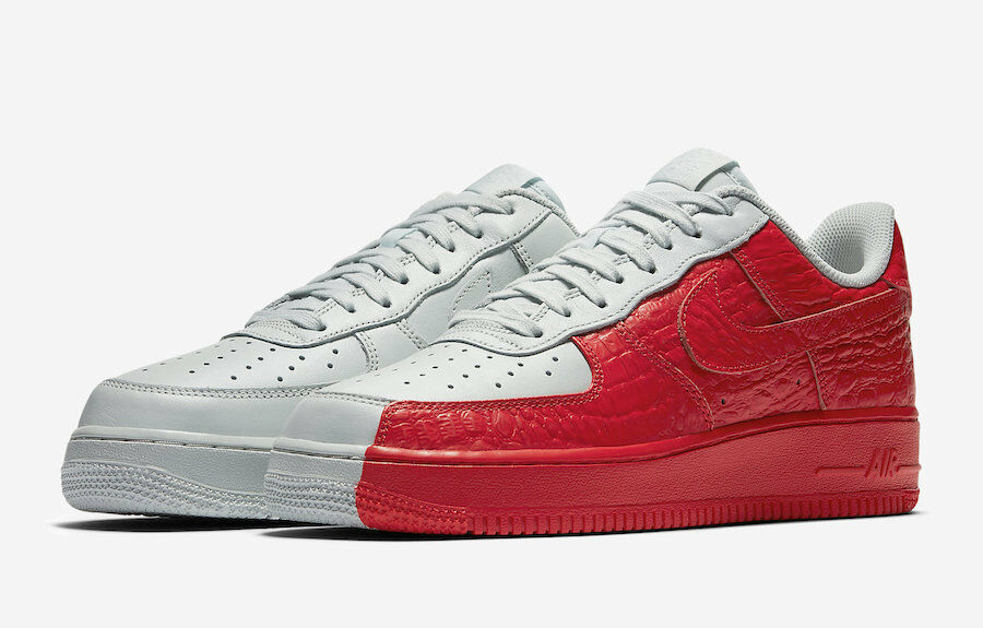 Nike Force 1'07 PRM vertido Air  blanco o o blanco brillante carmesí 905345-005 037747