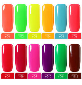 BELLE-FILLE-Nail-Gel-Polish-Soak-Off-UV-Neon-Manicure-Salon-DIY-Hot-Color-Series