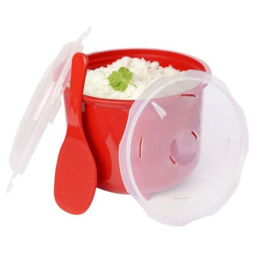Rice Steamer Ladle Lid Set Microwave Sushi Cooker BPA Free Plastic Kitchen Tool