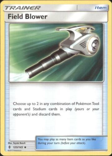 Pokemon SM Guardians Rising Card # 125 U 4x Field Blower SM02-125