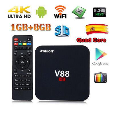 SCISHION V88 4K 3D Smart TV BOX Android 6.0 1+ 8GB Quad Core WIFI Media Player