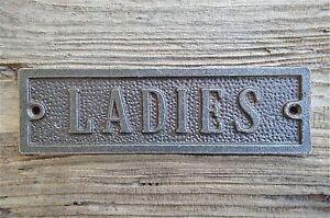 SOLID ANTIQUE STYLE CAST IRON LADIES DOOR SIGN TOILET DOOR PLAQUE WH13
