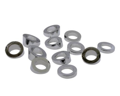 set of 12. chromed 6 angle of 5 ° to 30 ° ABS Washers keilfoermig