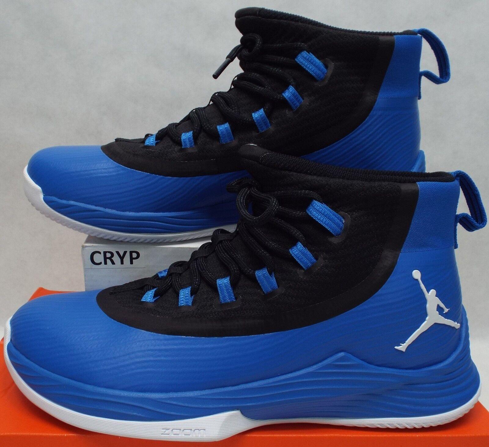 New Mens 10 NIKE JORDAN Ultra Fly 2 Royal Soar bluee Black shoes  125 897998-402