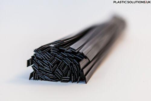 6mm pack of 10-50 pieces black PP//EPDM plastic welding rods flat shape