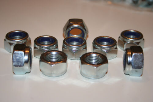 Fine Pitch Nyloc écrous insert nylon Lock Zinc Plaqué M14 x 1.5 Landrover