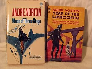 Andre-Norton-paperback-Moon-of-Three-Rings-Year-of-the-unicorn-1965-1966