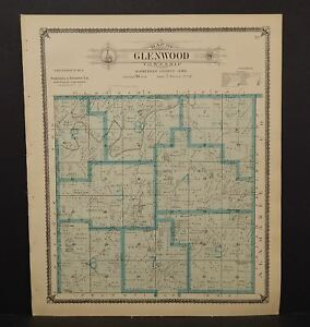 Iowa Winneshiek County Map Glenwood Township 1905 K14 97 Ebay
