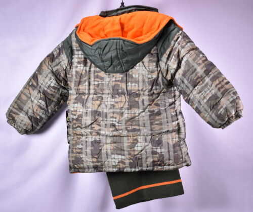 iXtreme Little Boys/' Camo Print Winter Puffer Jacket OLIVE