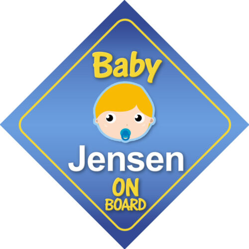 Baby Jensen On Board Car Sign *Choice of Hair Colours*