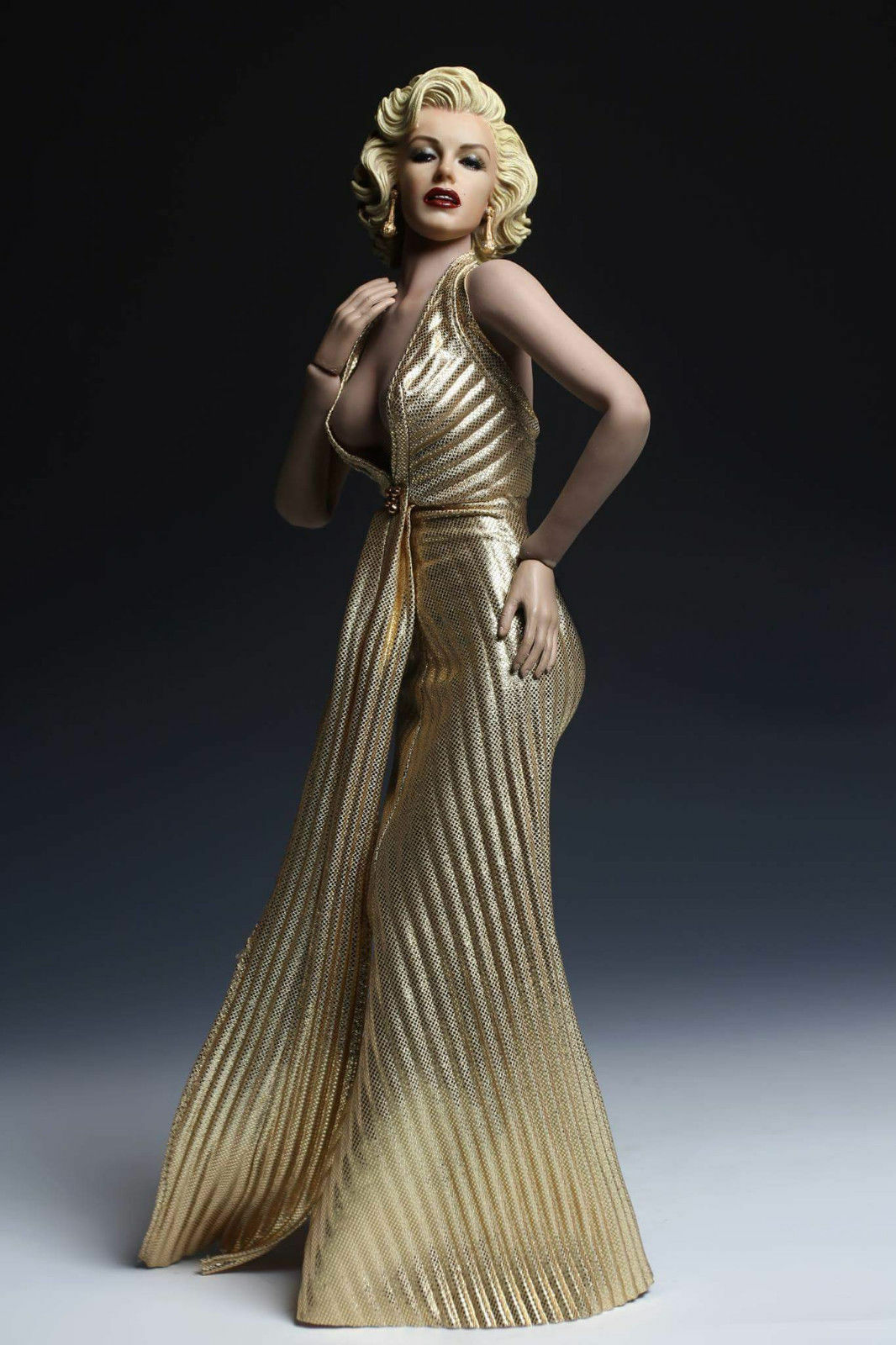 DIY 1/6 Woman Figure oro Dress and Head PH Doll Marilyn Monroe Collection Toy