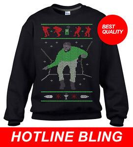 Maglione di Bling Ugly di Natale Drake Hotline 1v1xFPwq