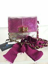 "LANVIN ""MINI POP"" 100% PYTHON METALLIC OMBRE SHOULDER BAG NWT! $1900"