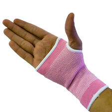 2 Pink Hand Palm Wrist Glove Support Brace Bandage Wrap Unisex Relief Sleeve Gym