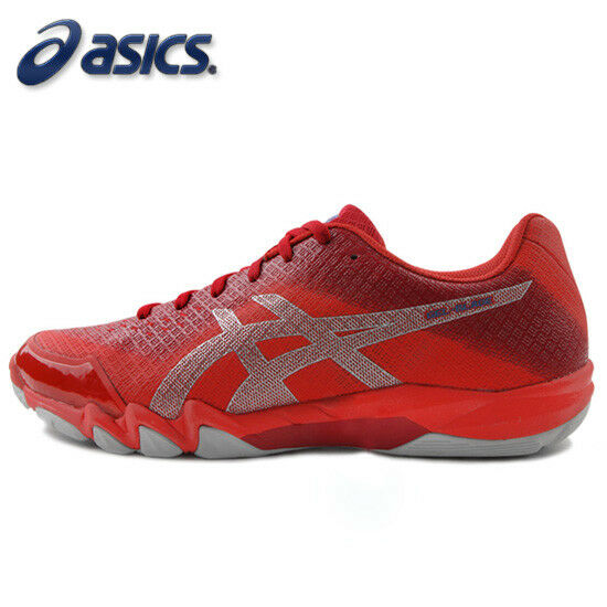 2d916d9571 ASICS GEL-BLADE 6 Men's Badminton shoes Indoor Red Racquet Racket NWT  R703N-600