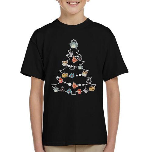 Studio Ghibli Christmas Tree Baubles Kid/'s T-Shirt
