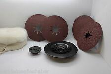 Schleifscheiben/ Polier Set  115 125 mm Polierscheibe, Kunststoffhalter