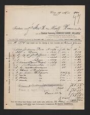 Weesp fattura, 1901, naamlooze verzekeringsverenigine chimica Fabriek Hollandia