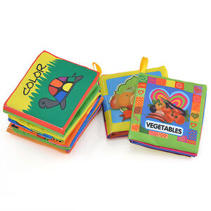 Baby-Kid-infant-Intelligence-development-Soft-Cloth-Cognize-Book-Educational-Toy