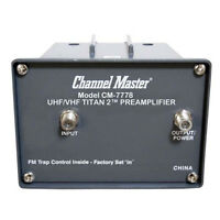 Channel Master Titan 2 Preamplifier TV Antenna Amplifier VHF UHF Gain CM-7778 TV Accessories