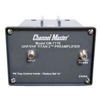 Channel Master Titan 2 Preamplifier TV Antenna Amplifier VHF UHF Gain CM-7778 TV Accessories
