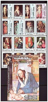 Ajman 637-44 Gemälde Dürer Postfrisch