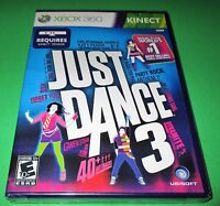 Just Dance 3 Microsoft Xbox 360 Factory Sealed Free Shipping