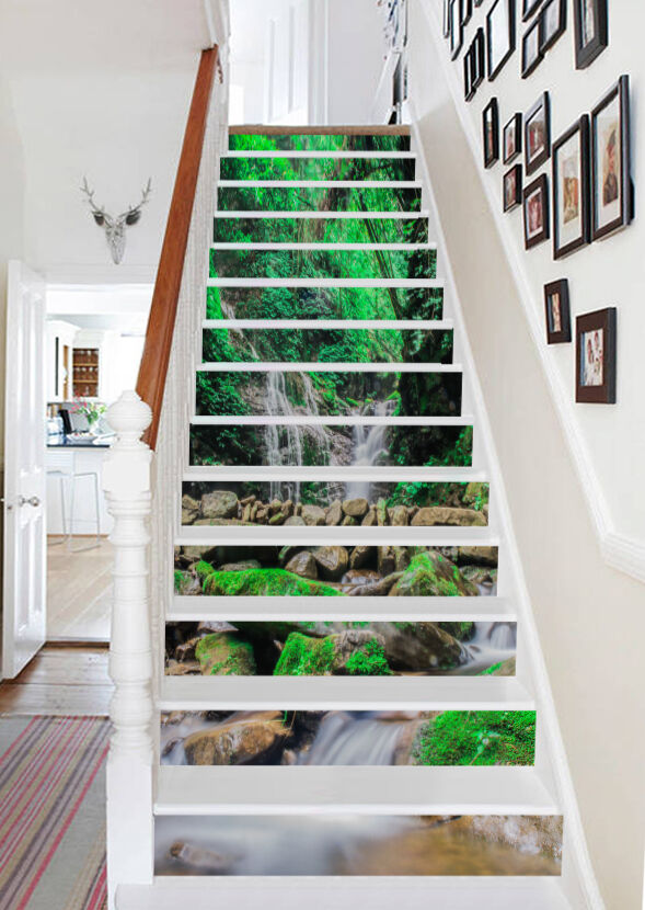 3D Moss Stone 823 Risers Decoration Photo Mural Vinyl Decal Wallpaper CA