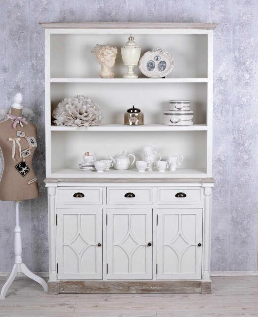 Large Bookcase Shabby Chic Shelf White