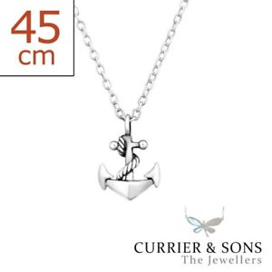 45cm // 18 inch 925 Sterling Silver Feather Pendant Necklace Design 3